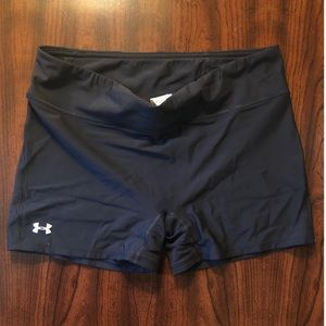 Under Armour spandex black shorts